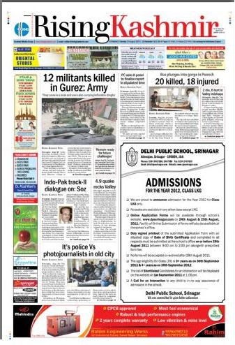 Read Rising Kashmir Newspaper