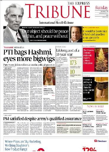 Read Daily Express Tribune Newspaper