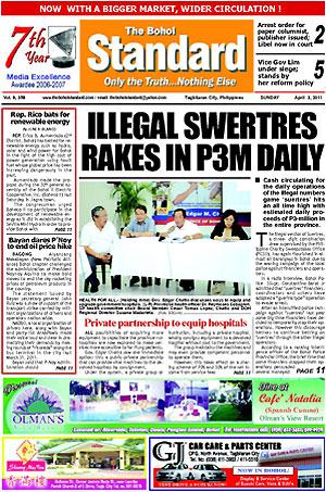 Epaper Read The Bohol Standard Newspaper Online Epapers