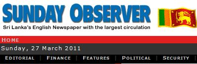 Read Sunday Observer Newspaper